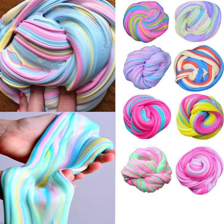 Идеи покраски слайма цветными красителями