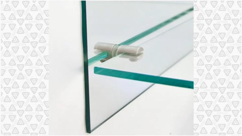 Крепление стеклянных полок
